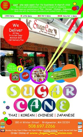 SugarCane Cuisine: Our new menu has changed