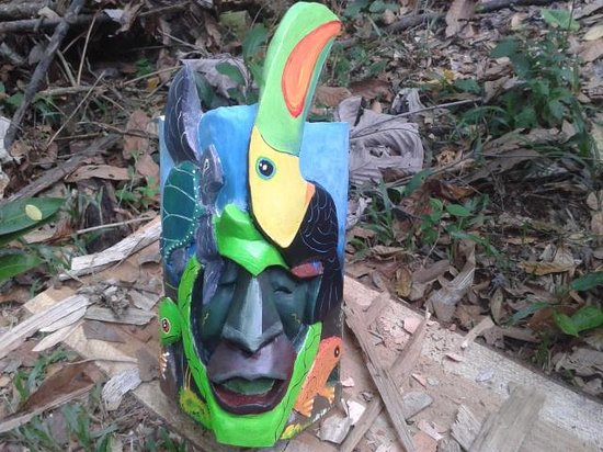 Hone Creek, Costa Rica: Mask.History BryBry Indigenous cultur Natural.