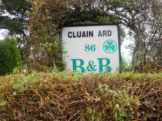 Cluain Ard B&B: The road sign