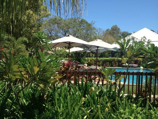The Billi Resort: View of the pool from our villa
