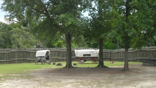 Fort Michell National Historic Site: Carriages within the fort