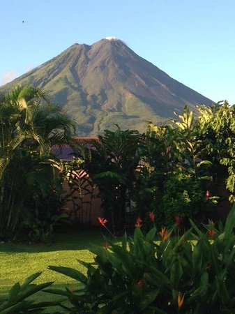 Pacific Trade Winds: Arenal Volcano from our room at Arenal Springs