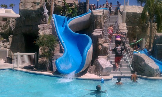 Palm Canyon Resort & Spa: The water slide