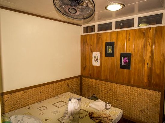 Tandikan Beach Cottages: Ceiling fan in room.