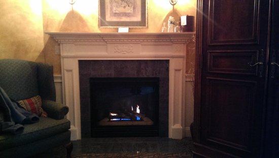 Dan'l Webster Inn & Spa : the fireplace in the Jarves room