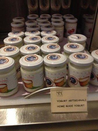 Firenze Number Nine Wellness Hotel: fresh, organic yogurt in glass jars!  yummmm!!