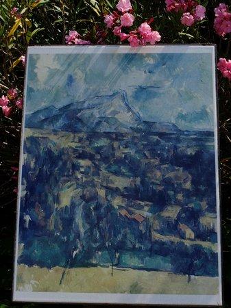 Les Lauves : セザンヌの絵の複製。