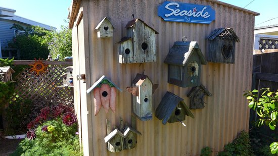 Seaside Motel: nicely decorated garden