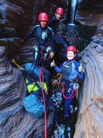 West Oz Active Adventure - Day Tours: Ready to abseil in Know Gorge