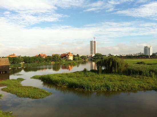 Hotel Tamboho : vue de la terrasse du restaurant