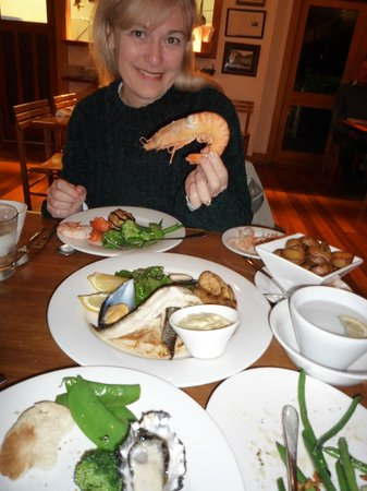 Hallam's Waterfront Restaurant : enjoying dinner at Hallams Waterfront, Launceston
