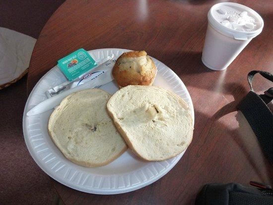 Rodeway Inn Lincoln: Desayuno (te lo tienes que tomar en la habitación)
