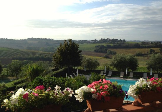 Borgo Tre Rose : view from restaurant terrace
