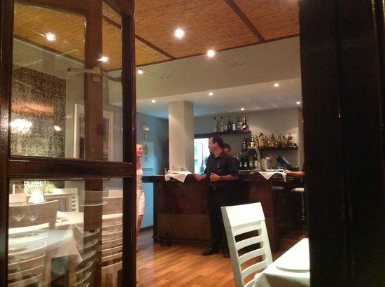 Roland Restaurant : View through to inside seating