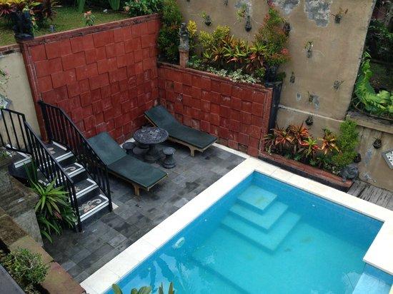 Deta Junjungan Rice Field Villa: The private pool on level 1