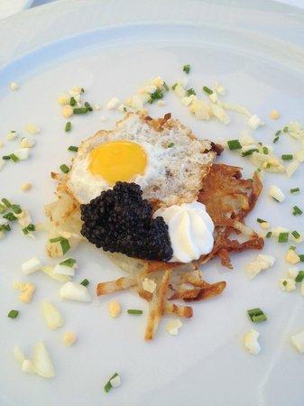 Restaurante Coco Beach: Kaviar mit Rösti und Wachtelei *****