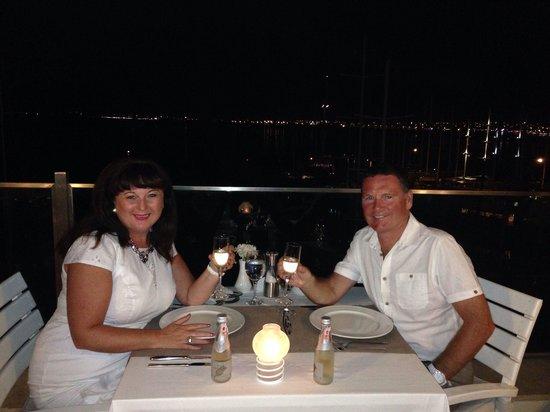 Alesta Yacht Hotel : Dinner from roof top restaurant