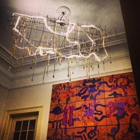 Whatever Art Bed & Breakfast: Funky reception area