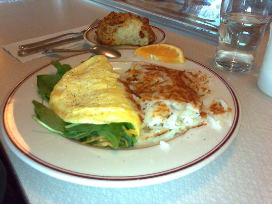 Sugar Pine Cafe: Spinach and cheese omelet. Yum