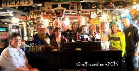 Wolfhound Adventure Tours : O'Neill's Railway Tavern, Camp - Dingle Peninsula - with Michael O'Neill