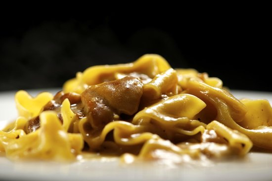 Dieci : Home made papardelle pasta and porcini mushrooms