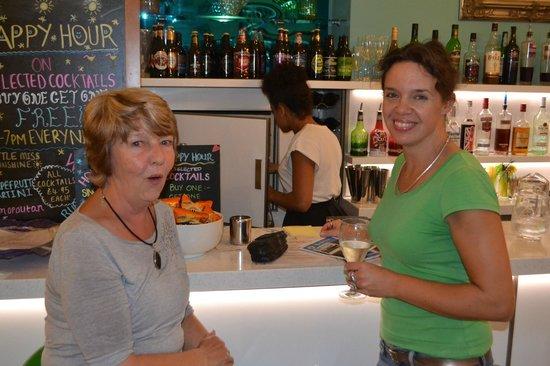 Acqua Beach Weymouth: Charlotte socialising with organiser