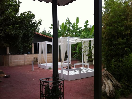 Beauty Lounge: Nice garden for massages
