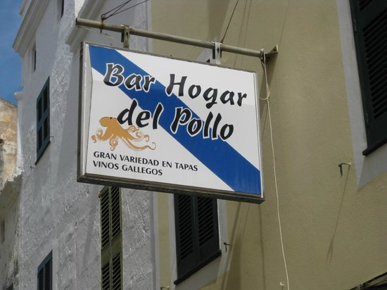 Hogar Del Pollo: the tapas bar sign