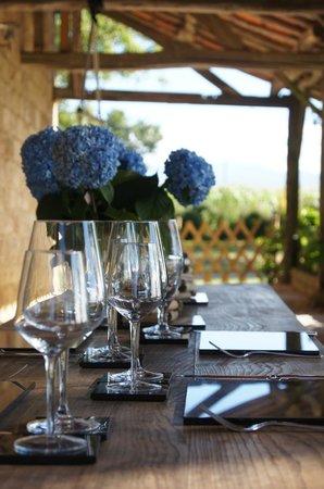 The Barns Dans Les Pyrénées : front dining