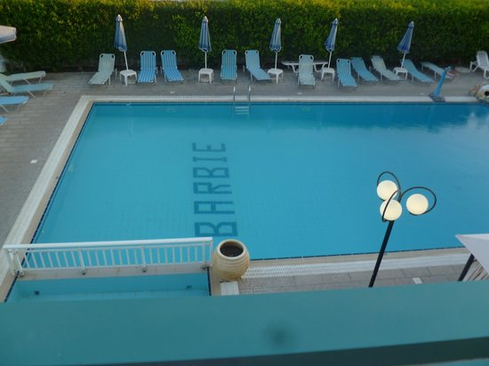 Barbie Hotel: The pool from the balcony