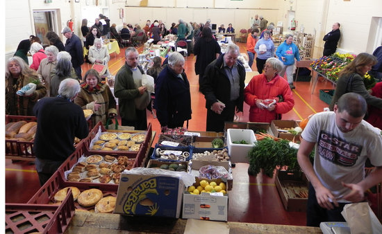 Capel-le-Ferne, UK: Overview of our market - approximately 22 stalls every week - these photos are only a small sele