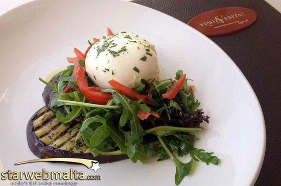 Vino Veritas : Aubergine & Bufala Salad