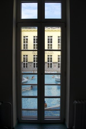 Lukacs Baths: Baths seen from the window
