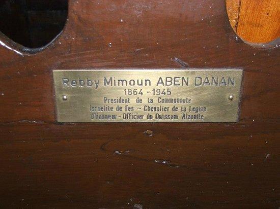 Aben Danan Synagogue : Rabbi Aben Danan's chair