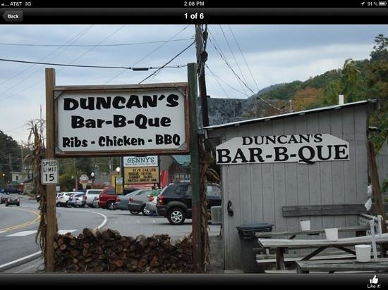Duncan's Bar-B-Que: Don't blink..you might miss it!