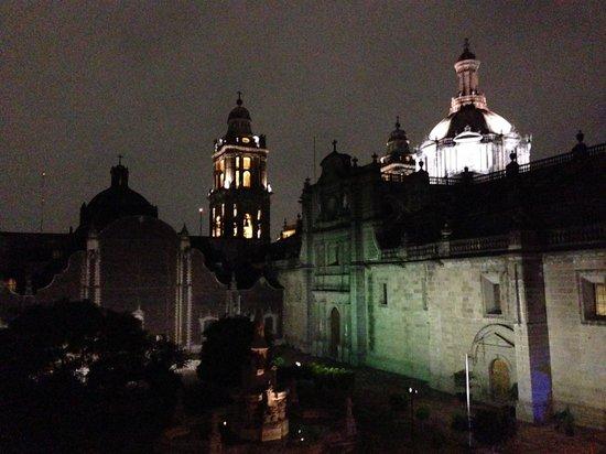 La Casa de las Sirenas: View from Las Sirenas at night. (9pm)