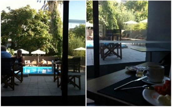 Amphitryon Boutique Hotel: restaurant & swimming pool
