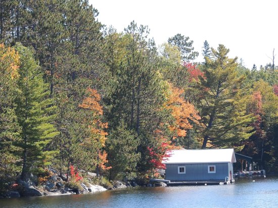 Hidden Cove Cottage Resort: Great Fall Colours, and got better as the week went on