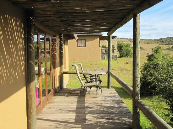 Hlosi Game Lodge: Terrace