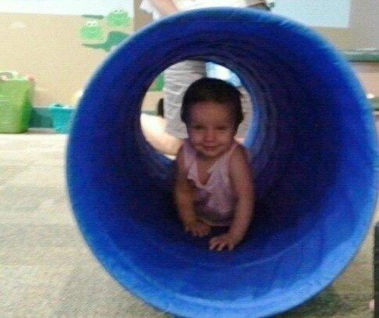 Glazer Children's Museum: Baby tunnel