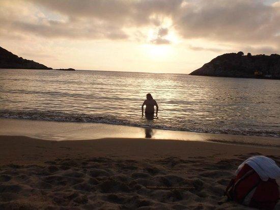 Voidokilia Beach sunset