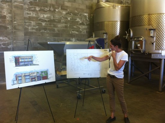 St Clair Brown Winery: Laina showing their future plans