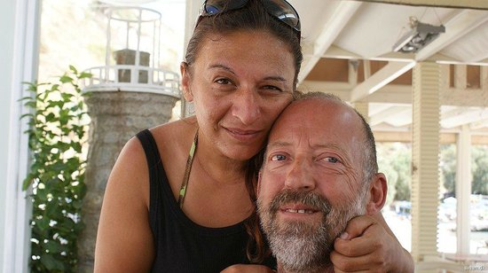 Faros Fish Restaurant: Stella and me....