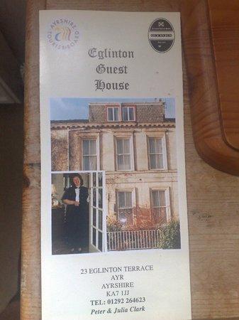 Eglinton Guest House: Booklet