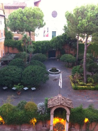 Hotel Columbus: court yard view from room