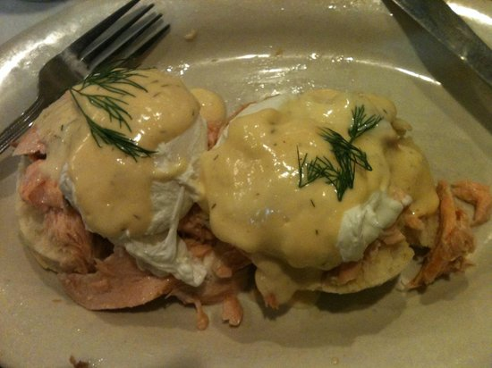 The Ruby Slipper Cafe: Smoked salmon Benedict