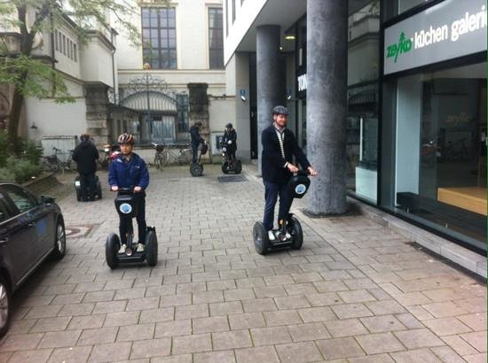 City Segway Tours Munich: practicing before city tour