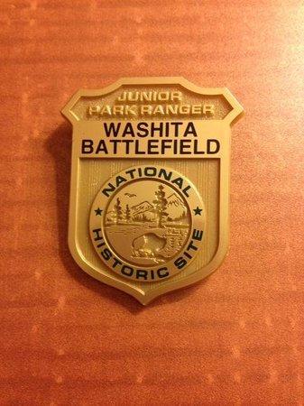 Washita Battlefield National Historic Site: Junior Ranger ranger badge