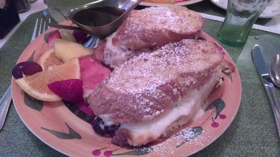 Sign of The Mermaid: stuffed creme brule French Toast
