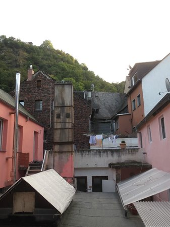 Hotel Rheinfels: Not the best view on the non-river side, but interesting